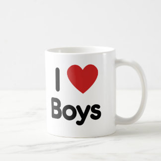 I heart boys coffee mug