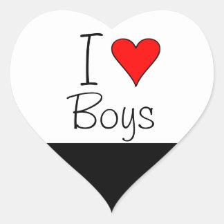 I heart boys heart sticker