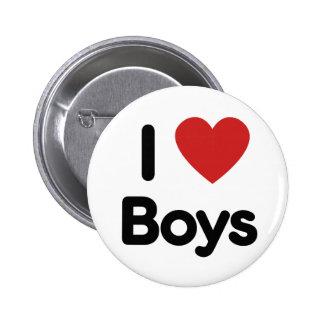 I heart boys pinback button