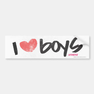 I Heart Boys Pink Bumper Sticker