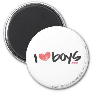 I Heart Boys Pink Magnet