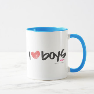 I Heart Boys Pink Mug