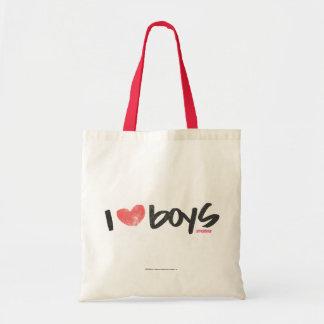 I Heart Boys Pink Tote Bag