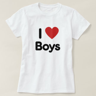 I heart boys tee shirt