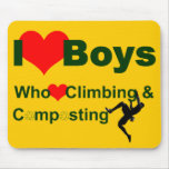 I heart boys who heart climbing and composting mouse pad