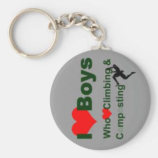 I heart boys who heart climbing and key chains