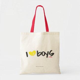 I Heart Boys Yellow Tote Bag