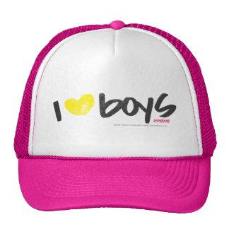 I Heart Boys Yellow Trucker Hat