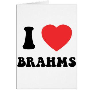 I Heart Brahms gear Greeting Card