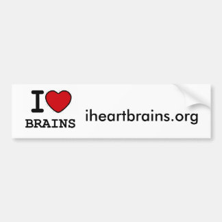 i*heart*brains bumper sticker