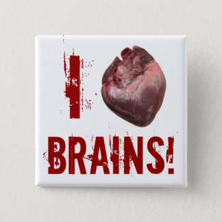 I Heart Brains! Button
