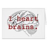 I heart brains. card