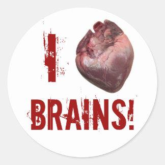 I Heart Brains! Classic Round Sticker