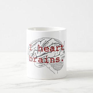 I heart brains. classic white coffee mug