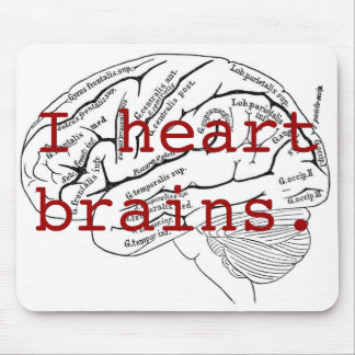 I heart brains. mouse pad