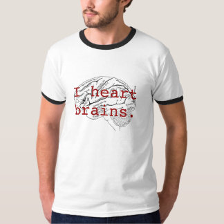 I heart brains. tee shirt