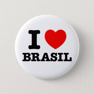 I Heart Brasil Button
