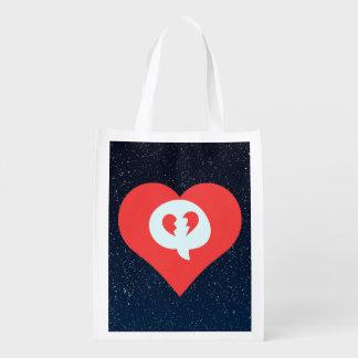 I Heart Break Ups Grocery Bag
