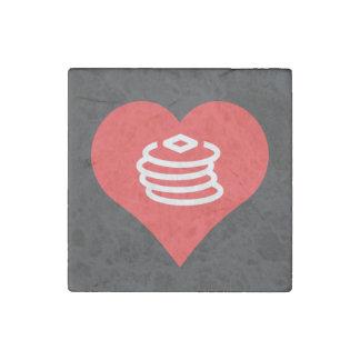 I Heart breakfast Vector Stone Magnet