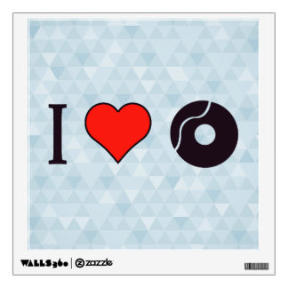I Heart Breaking Records Wall Decal