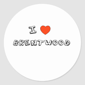 I Heart Brentwood Classic Round Sticker