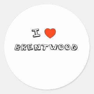 I Heart Brentwood Round Sticker