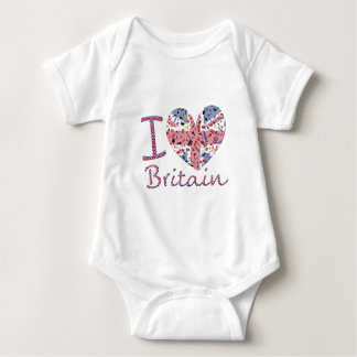 I heart Britain- show your love Baby Bodysuit