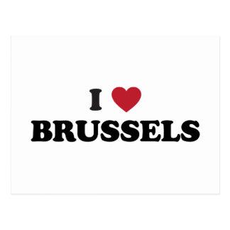 I Heart Brussels Belgium Postcard