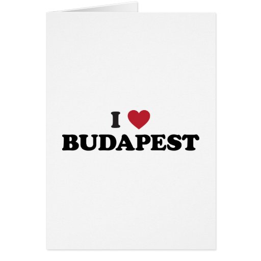 I Heart Budapest Hungary Card