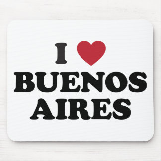 I Heart Buenos Aires Argentina Mouse Pad
