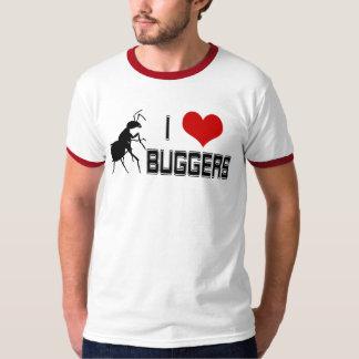 I Heart Buggers ringer T-shirt
