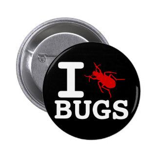 I heart Bugs Button
