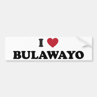 I Heart Bulawayo Zimbabwe Bumper Sticker