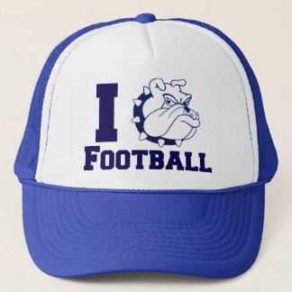 I Heart Bulldog Football Trucker Hat