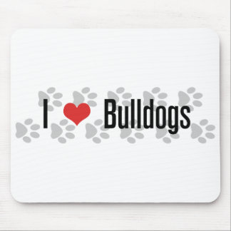 I (heart) Bulldogs Mouse Pad