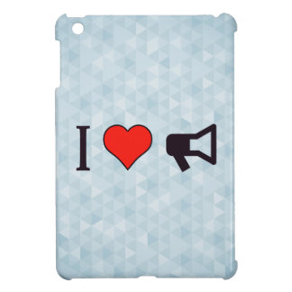 I Heart Bullhorns iPad Mini Covers