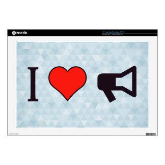 I Heart Bullhorns Laptop Skins