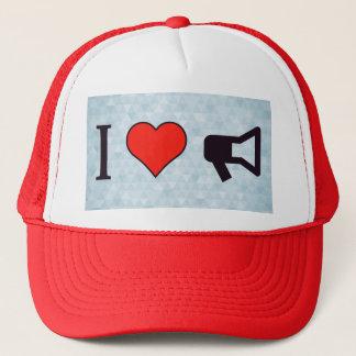 I Heart Bullhorns Trucker Hat
