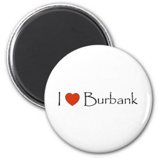 I Heart Burbank 2 Inch Round Magnet