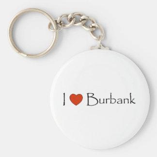 I Heart Burbank Keychain