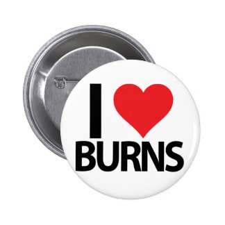 I Heart Burns Pinback Button