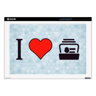 "I Heart Business Cards Skins For 17"" Laptops"