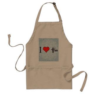 I Heart Business Leaders Adult Apron