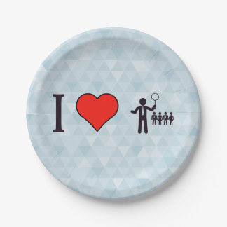 I Heart Business Leaders Paper Plate