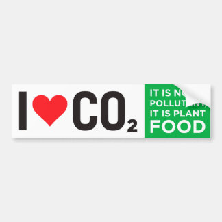 I Heart C02 Bumper Sticker