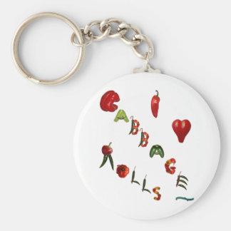 I Heart Cabbage Rolls Keychain