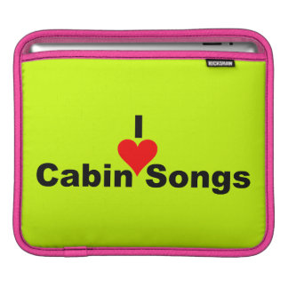 I Heart Cabin Songs (Bluegrass) iPad Sleeve