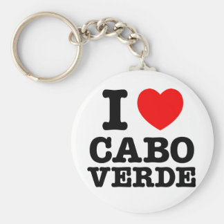 I Heart Cabo Verde Keychain