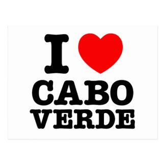 I Heart Cabo Verde Postcard