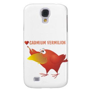 I Heart Cadmium Vermilion Samsung Galaxy S4 Cases